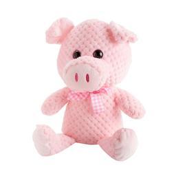 "Super Soft Pig Plush 15"" Stuffed Animal w/ Glitter Eyes New"