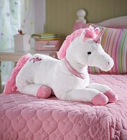HearthSong® Large Super Soft Plush Dazzle the Unicorn Stuff