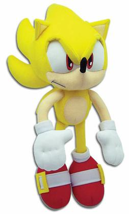 Super Sonic The Hedgehog Tails Plush Doll Stuffed Animal Sof