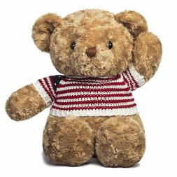 Sweater Teddy Bear Stuffed Animal Plush, Brown,