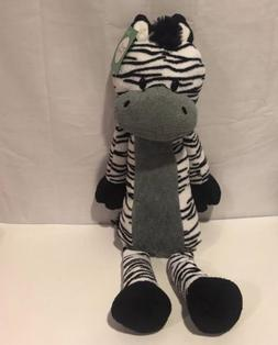 "Sweet Sprouts Animal Adventure Zebra Black & White 19"" Plush"