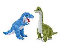 Mozlly T-Rex Stuffed Animal 16 Inch  and Brachiosaurus Dinos