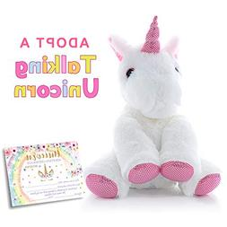 MORDUN Talking Plush Unicorn | Pink Cute Stuffed Animal | Ch