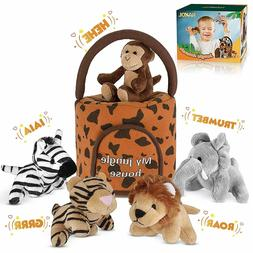 Talking Plushie Set Realistic Sounding Stuffed Animal Babies