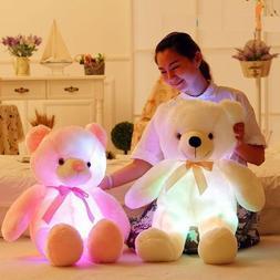 Teddy Bear Creative Light Up Led Stuffed Plush Inductive Toy