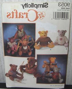 Teddy Bears Stuffed Animals & Clothing Sewing Pattern/Simpli