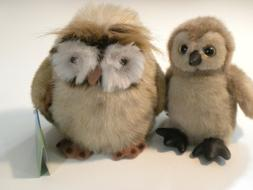 """The Bearington Collection Baby Stuffed Owl """"Ollie"""" and Full"""