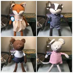 THE MANHATTAN TOY COMPANY EASTER BRUNCH SET OF 4 STUFFED ANI