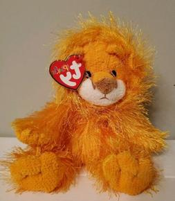 Ty The Punkies Collection Kitty Lion Shaggy Silky Stuffed An