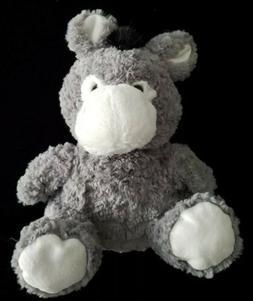 "This & That Plush Stuffed Donkey Puppet 8"" Soft Grey"