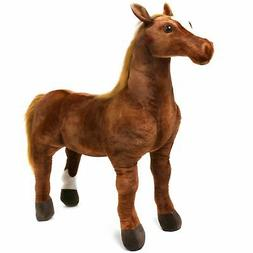 VIAHART Thorsten The Thoroughbred Horse | 3 Foot Big Stuffed