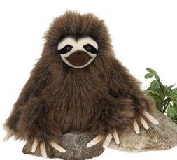 "7"" Three Toed Sloth Sitting Plush Stuffed Animal Toy by Fies"