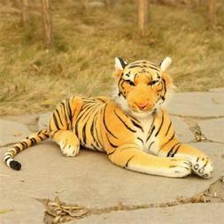 Tiger Plush Animal Realistic Big Cat Orange Bengal Stuffed P