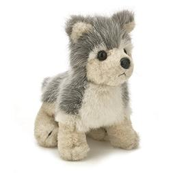 "Bearington Timber Plush Stuffed Animal Grey Wolf 8"""