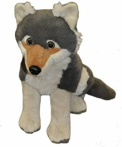 "Timber Wolf Stuffed Animal Plush Doll Toy Wild Republic 12"""