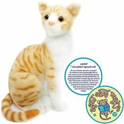 Tobias the Orange Tabby Cat | 12 Inch Stuffed Animal Plush |