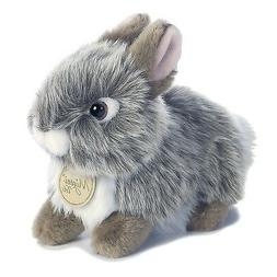 "Miyoni Tots BABY BUNNY 7"" Plush Grey Rabbit Stuffed Animal A"
