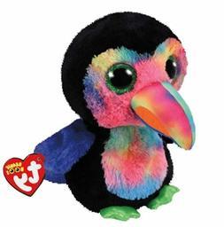 "Toucan Bird 6"" Ty Beanie Boos Puppy Glitter Big Eyes Plush S"