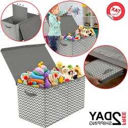Toy Box For Stuffed Animals Living Room Nursery Kids Baby Bo