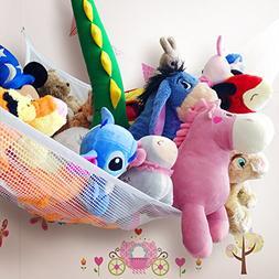 "Zebrum Toy Hammock for Stuffed Animals, 80"" Jumbo Strong Mes"