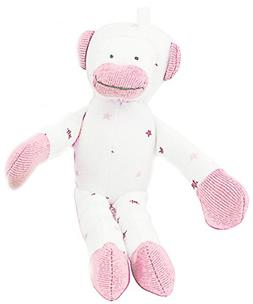"""Under the Nile Baby Toy Scrappy Monkey Stuffed Animal 7"""" Org"""