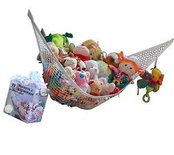 MiniOwls Toy Storage Hammock Large Organizer White
