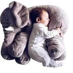 Elephant Plush Toy Stuffed Animal Grey Doll For Kids 24 inch