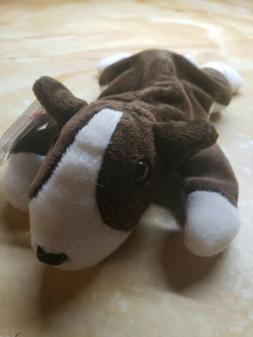 """toys 4694 TY Beanie Babies 7"""" Super Soft Puppy Dog ** BRUNO"""