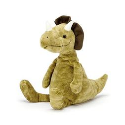 Jellycat Trevor Triceratops Dinosaur, 13 inches