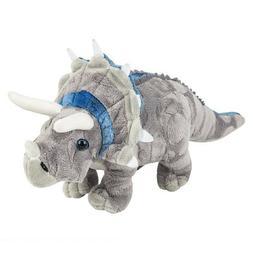 "Triceratops Dinosaur  Plush Stuffed Animal Den 13"""