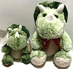 triceratops dinosaurs plush new set of 2