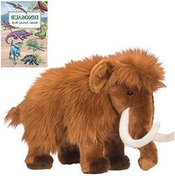 "Tundra Wooly Mammoth 12"" Plush with Dinosaur Sticker Activit"
