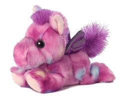 "Aurora Tutti Frutti PURPLE PEGASUS 7"" Plush Pink Stuffed Ani"