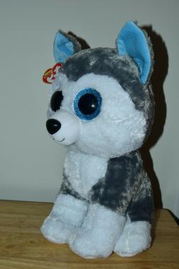 Ty Beanie Babies 37069 Boos Slush the Husky Large Boo Buddy