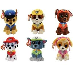 Ty Paw Patrol Beanie Babies - Set of 6! Marshall, Chase, Sky