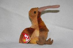TY Beanie Babies Beak the Kiwi Bird Stuffed Animal Plush Toy