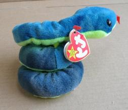TY Beanie Babies Hissy the Snake Stuffed Animal Plush Toy -