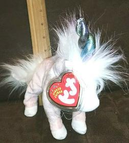 TY Beanie Baby Charmer The Pink Unicorn Stuffed Animal Toy R