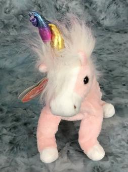 TY Beanie Baby Retired 2002 Charmer The Pink Unicorn Stuffed