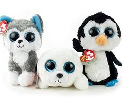 Ty Beanie Boos Arctic Bundle With Icy the Seal Pup, Waddles