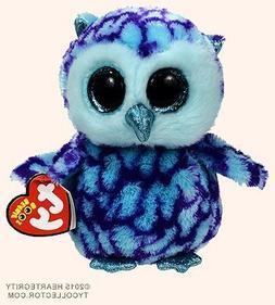 New TY Beanie Boos Cute OSCAR the Blue & Purple Owl Plush To