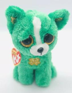 """Patrick/'s Day Chihuahua Dog 6/"""" NEW Exclusive Ty Beanie Boos ~ EMERALD the St"""