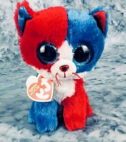 TY Beanie Boos Firecracker The Patriotic Cat 6 in Stuffed An
