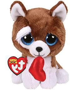 "2019 Valentine TY Beanie Boos 6"" SMOOTCHES The Dog Plush MWM"