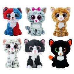 Ty Beanie Boos Stuffed  Plush Animals Black Cat Doll Toys fo