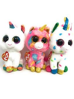 TY beanie boos set of 3, including Harmonie the unicorn, Fan