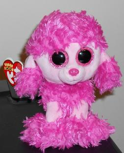 "Ty Beanie Boos ~ PATSY the 6"" Poodle Dog Stuffed Plush Toy"