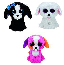 Ty Dogs Set of 3 Beanie Boos - Pippie Precious Tracey 6 in -