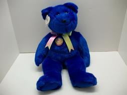 TY LARGE STUFFED ANIMALS / BEAR / 1998 / CLUBBY BEAR #1 / MI