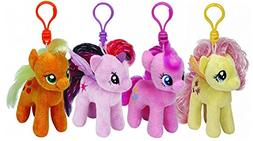 Ty My Little Pony Plush Beanie Babies Set -- 4 My Little Pon